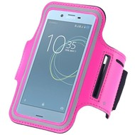 Roze Sportarmband Hoesje Hardloopband Sony Xperia XZs