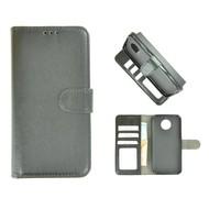 Zwart Wallet Bookcase Fashion Hoesje voor Motorola Moto G6 Plus