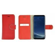 Pearlycase® Wallet Bookcase Samsung Galaxy S8 Plus Hoesje Echt Leer Effen Rood