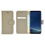 Pearlycase® Kakigrijs Effen Wallet Bookcase Echt Leren Samsung Galaxy S8 Hoesje