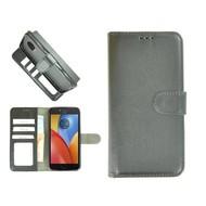 Zwart Wallet Bookcase Fashion Hoesje voor Motorola Moto E4 Plus