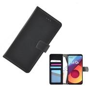 Zwart Wallet Bookcase Fashion Hoesje voor LG Q6