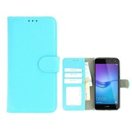 Turquoise Huawei Y5 2017 Wallet Bookcase Fashion Hoesje