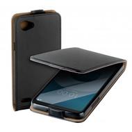 Zwart eco flipcase cover puleder hoesje voor LG Q6