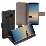 Zwart Luxe Y Wallet Bookcase Hoesje voor Samsung Galaxy Note8
