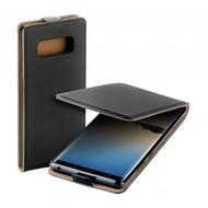 Zwart eco flipcase cover puleder Samsung Galaxy Note8 hoesje