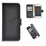 Pearlycase® Echt Leder Wallet Bookcase iPhone 8 Plus Hoesje Zwart