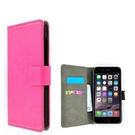 Roze Wallet Bookcase P Hoesje voor iPhone 8