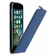 Blauw Echt Leer Flipcase hoesje voor Apple iPhone 8