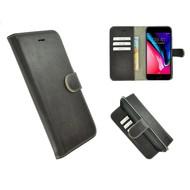 Pearlycase® Echt Leder Wallet Bookcase iPhone 7 Plus Donkerbruin hoesje
