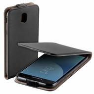 Zwart eco flipcase cover hoesje voor Samsung Galaxy J5 2017