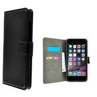Zwart Premium Wallet Bookcase Hoesje voor iPhone 8 Plus