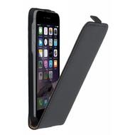 Zwart Echt Lederen Flipcase hoesje iPhone 8 Plus