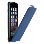 Blauw Echt Lederen Flipcase hoesje iPhone 8 Plus