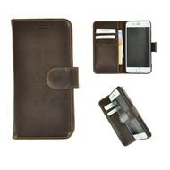 Pearlycase® Wallet Bookcase iPhone 8 Echt Leder Bruin Hoesje