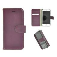 Pearlycase® Wallet Bookcase iPhone 8 Echt Leder Paars Hoesje
