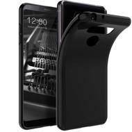Zwart TPU Siliconen Backcover Hoesje voor LG Q8