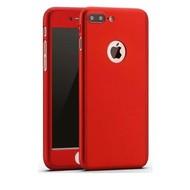 360 graden Full Body Cover Case Rood Hoesje voor iPhone 7 Plus