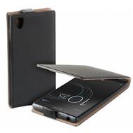 Zwart eco flipcase cover hoesje voor Sony Xperia L1