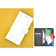 Wit effen Wallet Bookcase iPhone X