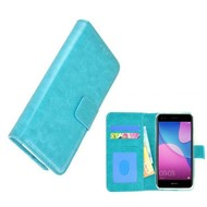 Wallet Bookcase voor Huawei P9 Lite Mini - Turquoise Fashion