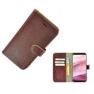Pearlycase® Samsung Galaxy S8 Echt Leer Bookcase - Bordeauxrood Effen