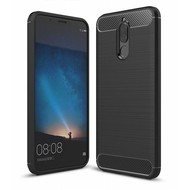 Zwart Carbon Geborsteld TPU Hoesje voor Huawei Mate 10 Lite
