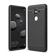 Zwart Carbon Geborsteld TPU Hoesje voor Huawei Mate 10 Pro