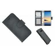 Pearlycase® Echt Leder Zwart Bookcase voor Samsung Galaxy Note 8 met kaarthouders
