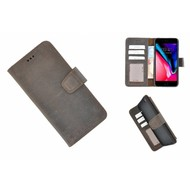 Pearlycase® Echt Leder Bookcase met kaarthouders voor iPhone 6(s) Plus - Bruin
