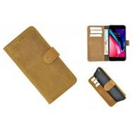 Pearlycase® Echt Leder Bookcase met kaarthouders voor iPhone 6(s) Plus - Lichtbruin