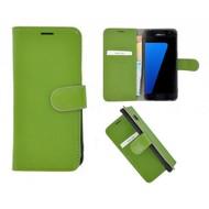 Pearlycase® Echt Leer Bookcase Samsung Galaxy S7 - Groen