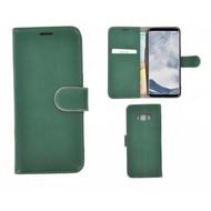 Pearlycase® Echt Leer Bookcase Samsung Galaxy S8 - Donkergroen