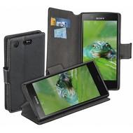Zwart Y Wallet Bookcase Sony Xperia XZ1 Compact