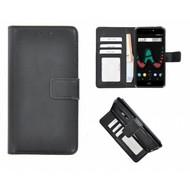 Zwart Fashion Wallet Bookcase voor Wiko U Pulse Lite