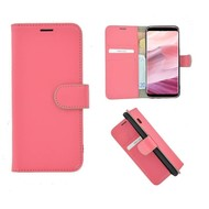 Pearlycase® Echt Leer Bookcase Samsung Galaxy S8 - Roze