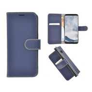 Pearlycase® Echt Leer Bookcase Samsung Galaxy S8 - Donkerblauw