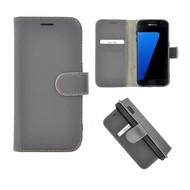 Pearlycase® Echt Leer Bookcase Samsung Galaxy S7 - Grijs