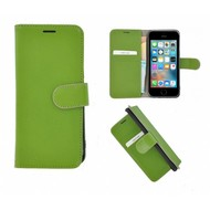 Pearlycase® iPhone 5(S)/SE Echt Leder Bookcase - Groen
