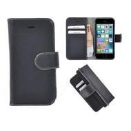 Pearlycase® iPhone 5(S)/SE Echt Leder Bookcase - Donkerblauw