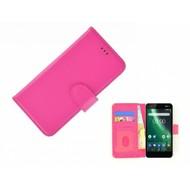 Roze Fashion Wallet Bookcase voor Nokia 2