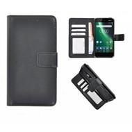 Zwart Fashion Wallet Bookcase voor Nokia 2
