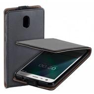 Zwart eco flipcase cover voor Nokia 2