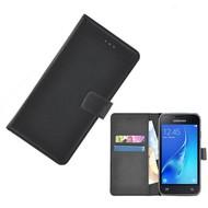 Zwart Wallet Bookcase Fashion Hoesje voor Samsung Galaxy J1 Mini Prime
