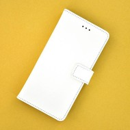 Wit Effen Wallet Bookcase voor Samsung Galaxy J1 Mini Prime