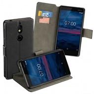 Zwart Y Wallet Bookcase voor Nokia 2