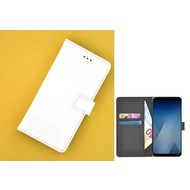 Wallet Bookcase voor Huawei P20 - Wit effen