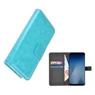 Wallet Bookcase voor Huawei P20 Lite - Turquoise effen