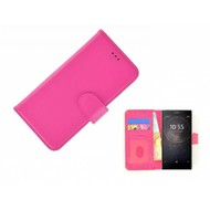 Roze Fashion Wallet Bookcase voor Sony Xperia XA2 Ultra