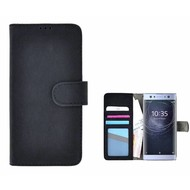 Zwart Fashion Wallet Bookcase voor Sony Xperia XA2 Ultra
